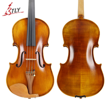 TONGLING Full Size 4/4 Advanced Violin Handcraft Semi-light Finished Spruce Face Flamed Maple Jujube Pegs w/ Parts