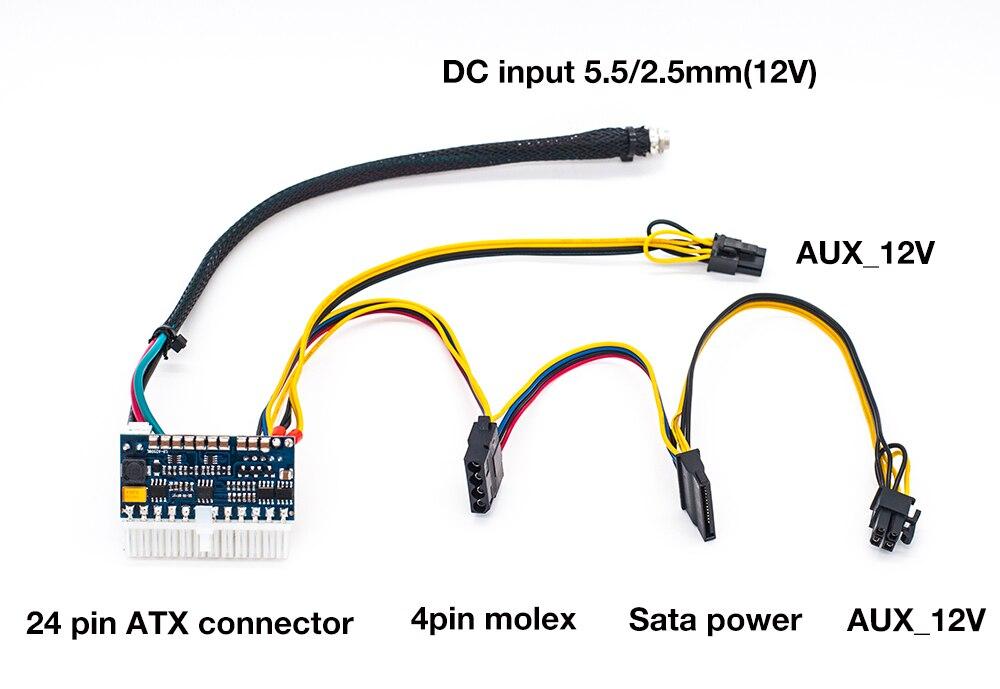 24pin DC ATX NETZTEIL 12 V Dc-eingang 250 Watt Ausgangsschalter DC ...