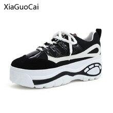 Женские криперы в японском стиле; дышащая обувь на платформе; повседневная обувь; женская обувь из сетчатого материала в стиле Харадзюку; X562 50