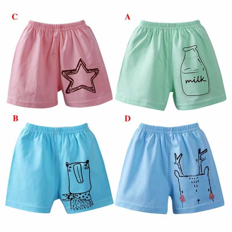 Dla dzieci chłopcy dziewczęta Cartoon drukuj lato krótki odzież spodnie dzieci dzieci dorywczo ubrania bawełniane Hot sprzedaży elastyczne spodnie