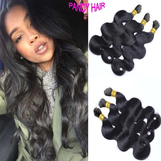 Brazilian Human Braiding Hair Bulk No Weft 3bundles Unprocessed Body Wave Crochet Braids