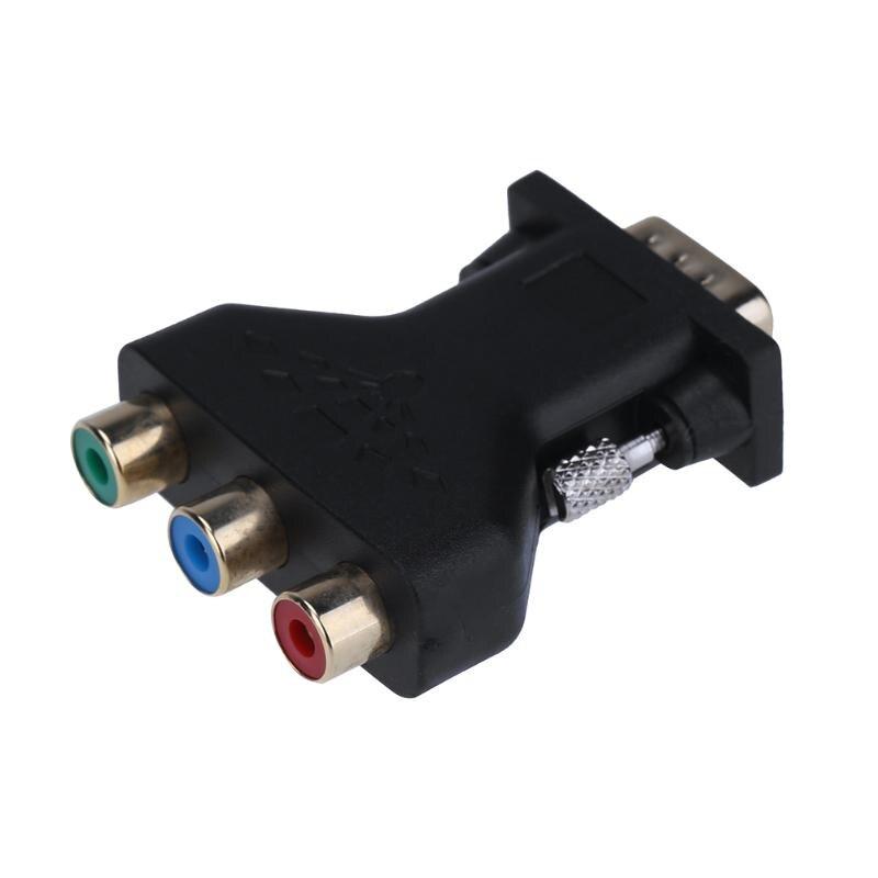 Pin Vga Male 3 Rca Female Converter Adapter Splitter Wire Connector
