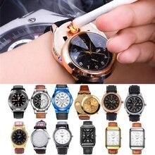 Несколько стилей Военная Униформа Беспламенное ветрозащитное для мужчин's перезаряжаемые USB часы повседневное кварцевые легче электронные Дата часы 45