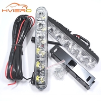 1pcs New Auto Durable Car Daytime Running Light 6LED DRL Daylight Super White DC 12V Head