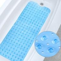 100*40cm Rectangle PVC Anti skid Bath Mat Soft Bathroom Massage Mat Suction Cup Non slip Bathtub Safety Mat