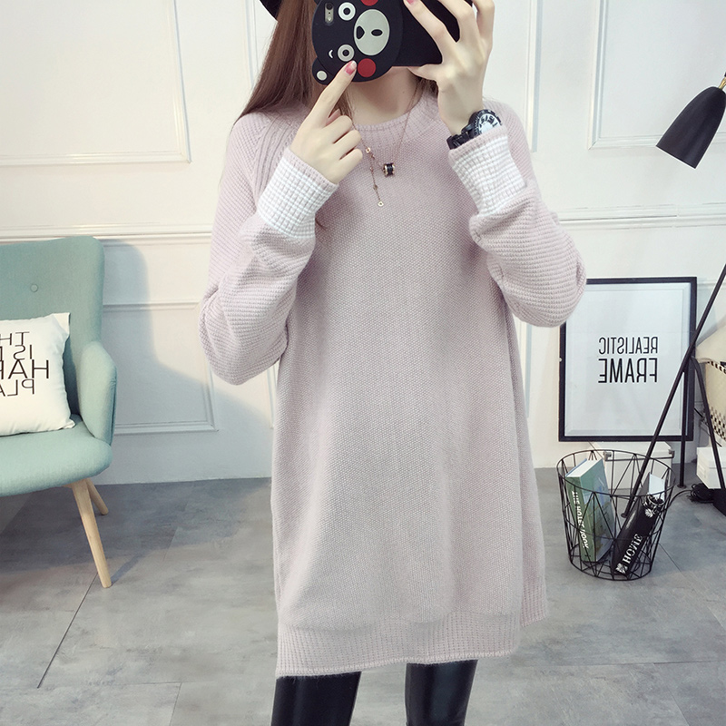 2017 autumn hot sale maternity o neck loose pullovers sweater for pregnant women pregnancy clothing tunics dress tops