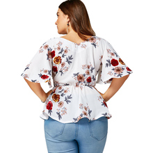 Fashion Women's Floral Plus Size Blouse