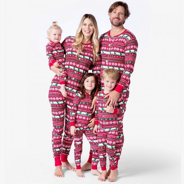 Family Matching Outfits Look Onesies Christmas Pajamas Father Mother Kid Baby  Clothes Christmas Family Set Pajamas Clothing YK 979fd683c