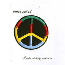 Four Color Peace Supermarket Gift Card Instruction Patch Embroidered Iron On Patches Cloth Coat Bag Shoes DIY Accessories