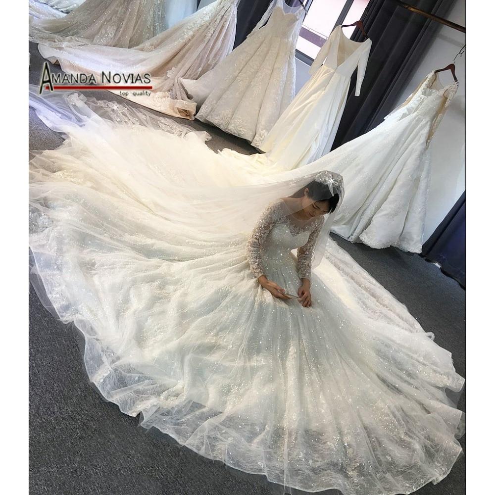 Wedding Bouquet 2019 Shinny Wedding Dress With Long