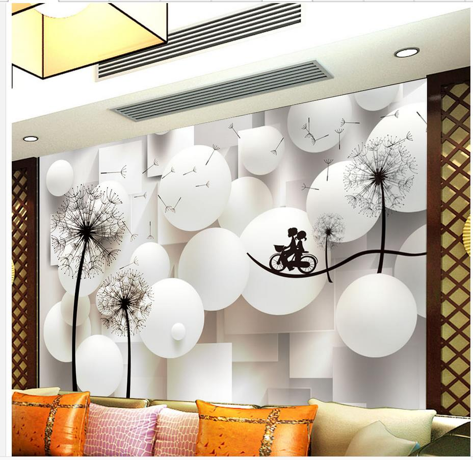Home Decoration 3d wall murals wallpaper 3D Dandelion photo wall murals wallpaper mural 3d paintings wallpaper 3d murals planet space mural photo