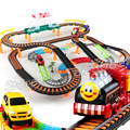89pcs 3D Two-Layer Thomas Trains engine trackmaster Track Roller Electric Musical Rail Car Thomas And Friends runway toys