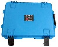Tricases fábrica nova bela cor azul PP plástico rígido caso o equipamento à prova de poeira à prova de choque à prova d' água M2620