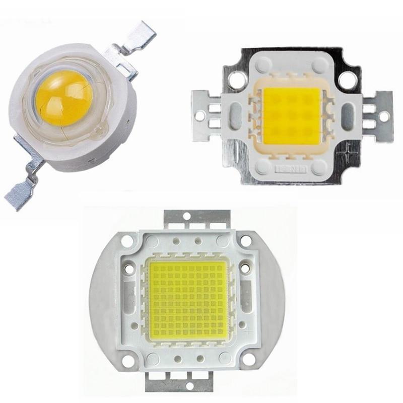 Cool/Cold White Light 10000K/20000K/30000K 1W 3W 5W 10W 20W 30W 50W 100W High Power LED Lamp Epistar Chip COB Integrated