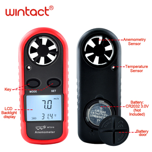 Image 2 - Mini Digital handheld Wind speed meter scale Anemometer Thermometer WT816 WINTACT