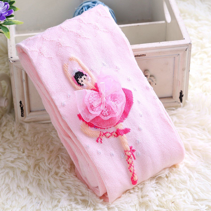 Baby Girl Kid Ballet Dance Cotton Hosiery Pantyhose Pants Stockings Socks Tights 4-12Years