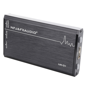 FX-AUDIO UK-01 MINI Audio External USB Sound Card Driveless Portable Headphone Amplifier Output CM6533 MAX9722
