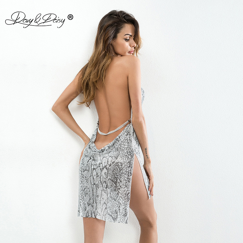 Neuheiten Und Spezialanwendung SchöN Davydaisy Frauen Sexy Kleid Snake Print Metallkette Schulterfrei Erotische Weibliche Porno Clubwear Sexy Dessous Sexy Kostüme Dr005 Einfach Zu Schmieren