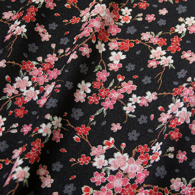 50cm 110cm Japanese Kimono Fabric 100 Polyester Fabric
