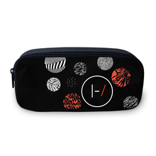 Twenty One Pilots Pattern Pencil Case for Boys LargeCosmetic Cases Girl Wallet Cool School Box Student Supplies Bag