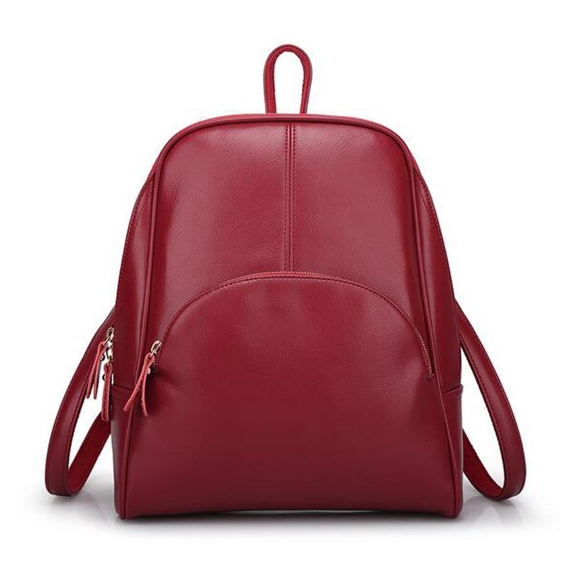 New 2017 PU Women Backpack Woman Korean Style Ladies Strap Laptop Bag Daily Backpack Girl School