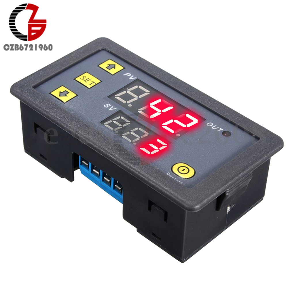 цена на 12V Dual LED Display Digital Time Delay Relay Module Cycle Timer Relay Timing Control Switch Relays