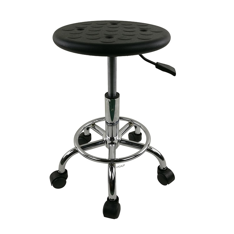European and American company laboratory stool Anti-static black blue wheel stool free shipping reishi spore ganoderma lucidum lingzhi anti cancer and anti aging body relaxation free shipping