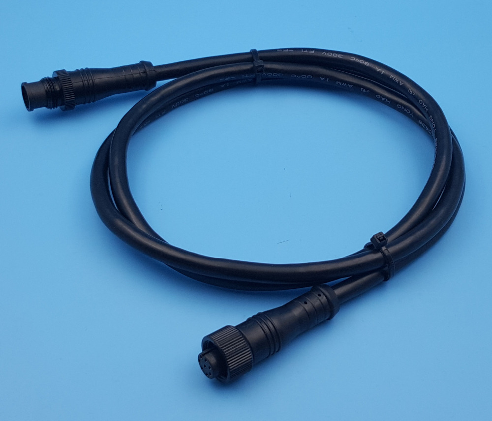 Free Shipping 1Pcs 1m 8Pin Waterproof Black Cable Wire Connectors Male & Female Aviation Contact free shipping 5pairs male and female 2pin 20awg l6 2 2p tamiya 30cm wire connectors