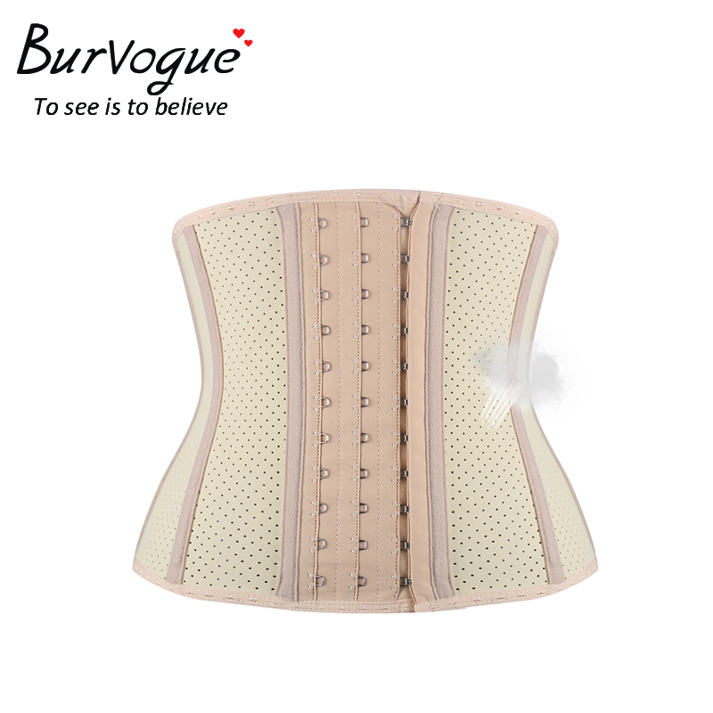 Burvogue 2017 Breathable   Corsets   Latex Waist Trainer Cincher   Corset   Shaper Tummy Control Short Underbust   Corsets   and   Bustiers