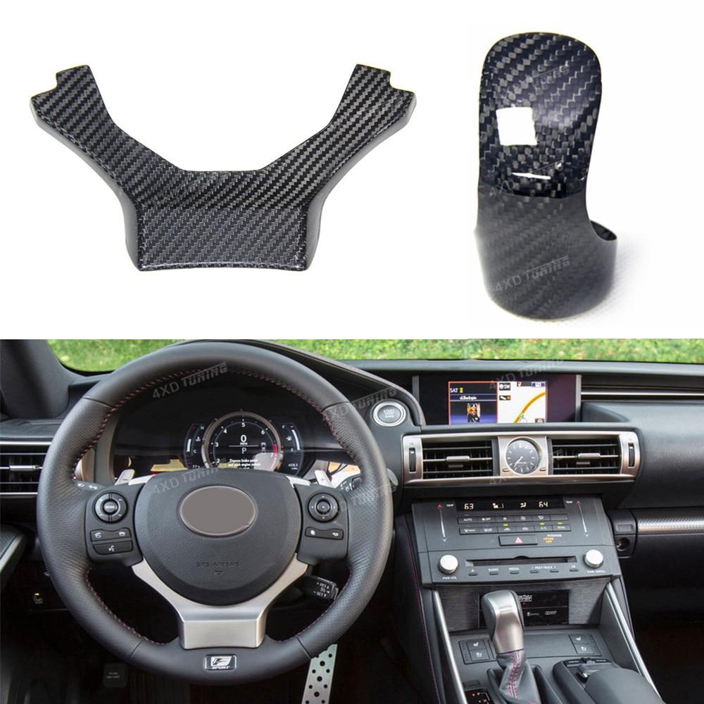 For Lexus ES EX RX IS RC ES Carbon Fiber Gear Knob Head Cover car Sticker & Steering Wheel Patch Trim Cover Only LHD 2014 - UP hudora big wheel rx 205