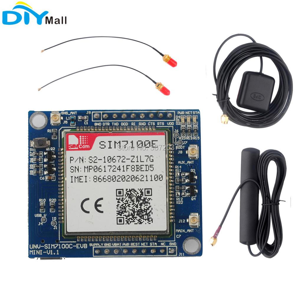 EU Network SIM7100E 4G Module Development Board + Antenna for Arduino Raspberry Pi Android Linux Windows high performance microcontroller development board module for arduino nano v3 0