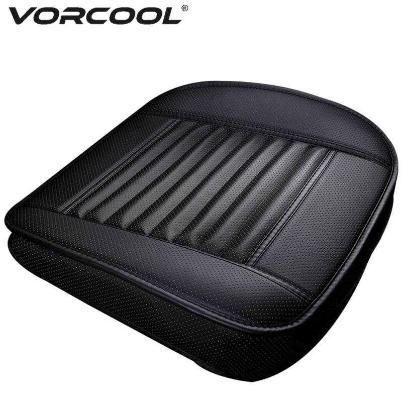 купить VORCOOL Four Season Single Seat without Backrest PU Leather Bamboo Charcoal Car Seat Cushion Car Protective Cover Seat по цене 876.4 рублей