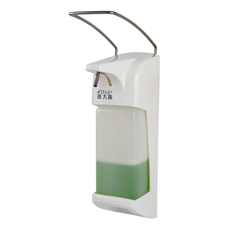 X 2262 ABS plastic 1000ml hospital hotel kitchen wall mounted elbow hand sanitizer hygienic liquid soap dispenser