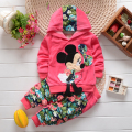 Toddler Girl Clothing Sets Kids 2016 Spring Children Velvet Clothing Set Cartoon Minnie Baby Girls Tracksuits Hoodies + Pants
