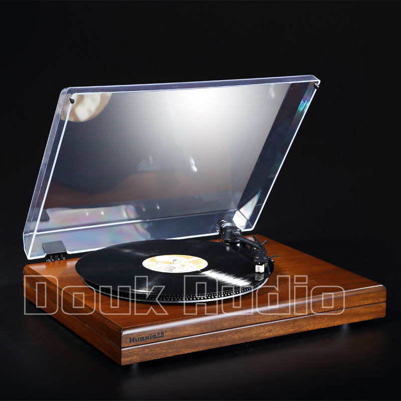2017 New Music Hall HiFi Stereo Turntable Retro LP Vinyl Record Player With  Phono Pre