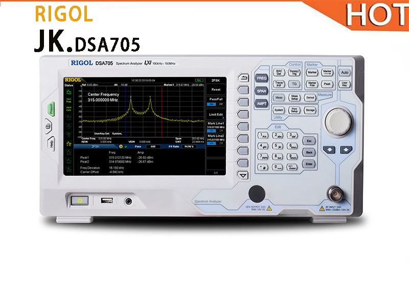 New RIGOL Puyuan DSA705 Digital Spectrum Analyzer 1G Spectrum IF Analyzer