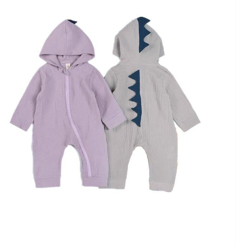 Baby Rompers Jumpsuits Baby Boys Girls Costume Newborns Clothing Autumn Cotton Animal Dinosaur Newborn 0-2 Years