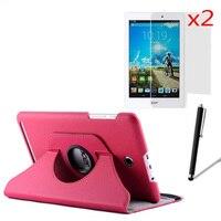 Вращающийся на 360 градусов Folio Stand кожаный чехол защитный чехол для Acer Iconia Tab 8 A1-840-16PT + 2x Экран Protector + 1x Стилусы
