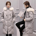 2016 New Winter Jacket Women Long Parka Female Warm Fur Collar Hooded Cotton Down Jacket Large Size Winter Down Coat A2169