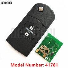 QCONTROL Car Remote Key Suit for MAZDA 41781 for M2 Demio M3 Axela M5 Premacy M6 Atenza M8 MPV 433MHz 4D63 80bits Optional