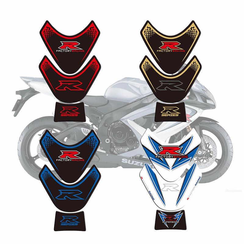 Sepeda Motor 3D Tangki Bahan Bakar Pad Pelindung Stiker Decals untuk Suzuki Gsxr 1000 2009-2015 2010 2011 2012 2013 2014