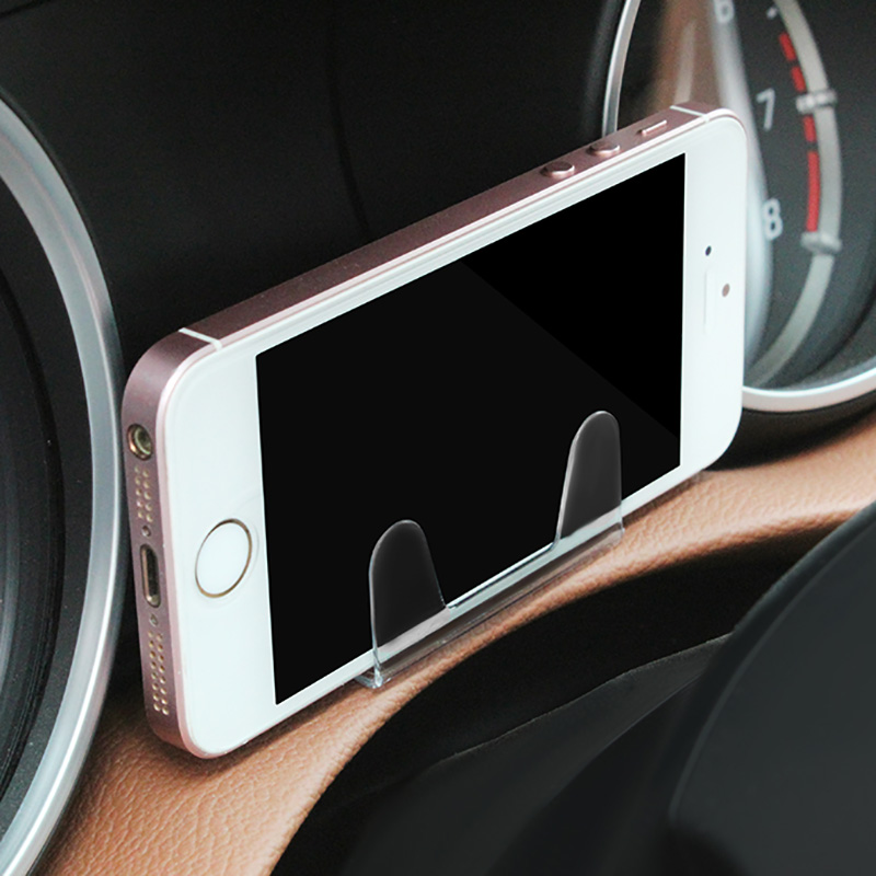 Stable Universal center console car phone holder mini transparent invisible bracket One-handed Pick Place not fall off
