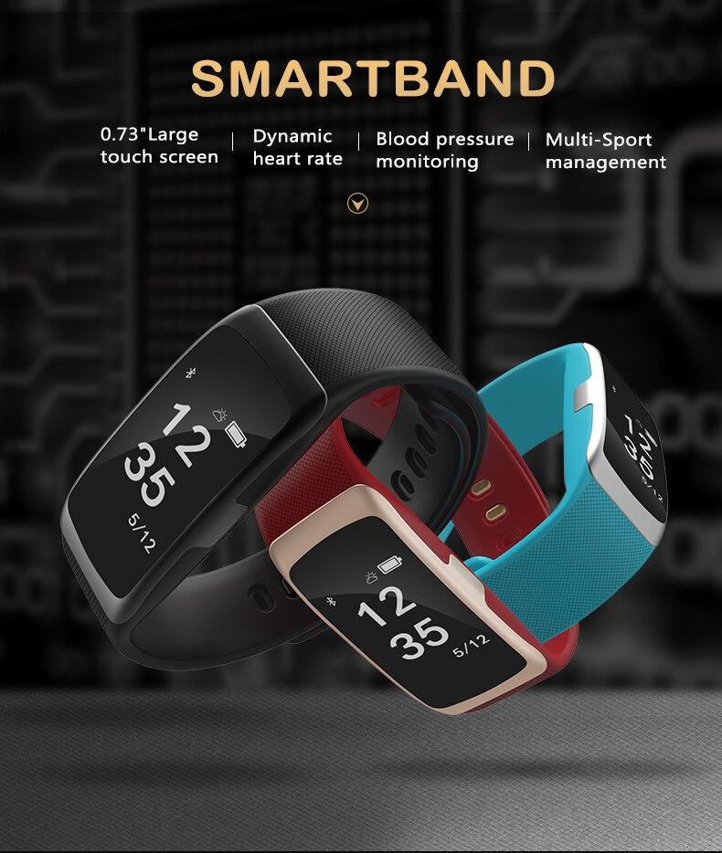 S68 <font><b>Bluetooth</b></font> <font><b>Smart</b></font> Браслет сердечного ритма Мониторы умный Браслет IP68 Водонепроницаемый SmartWatch открытый часы Фитнес