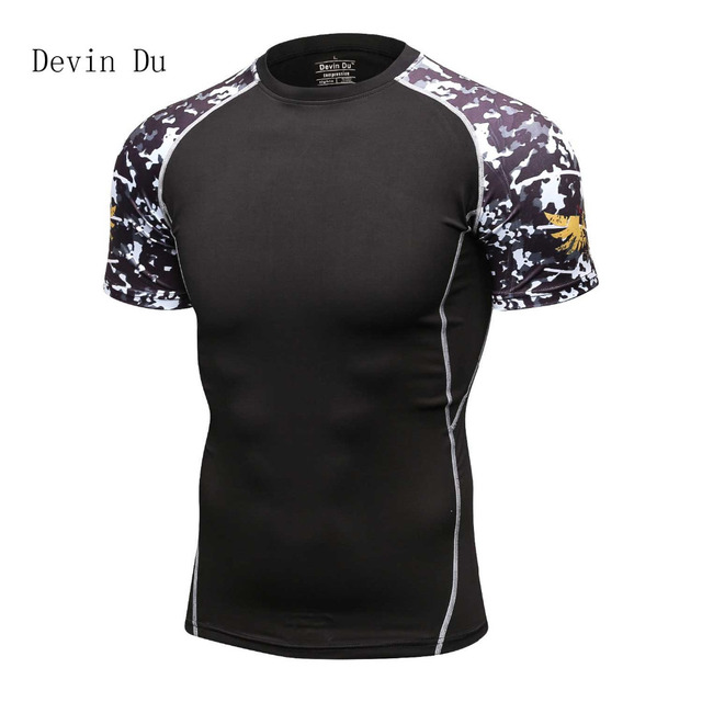 Для мужчин рукав реглан сжатия футболки Рашгард Объёмный рисунок (3D-принт) Фитнес базы Слои кожи плотно Бодибилдинг Для мужчин футболки Homme