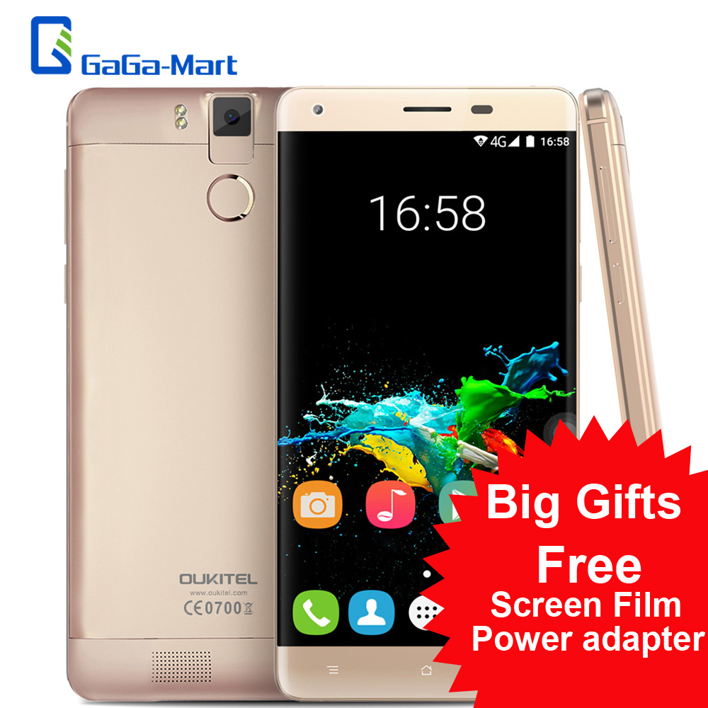 "Цена за Оригинал K6000 OUKITEL Pro 6000 мАч 4 Г Смартфон Android 6.0 MTK6753 Окта основные 3 ГБ + 32 ГБ 8MP 16MP 5.5 ""FHD 1920*1080 Мобильный Телефон"