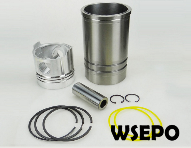 OEM Quality! Cylinder Sleeve/Liner+Piston Kit(06 pc kit) for ZS1115 4 Stroke Small Water Cooled Diesel Engine 38mm cylinder barrel piston kit