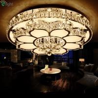 Luxury Modern Lustre K9 Crystal Led Ceiling Chandelier Flower Chrome Steel Dimmable Acrylic Chandelier Lighting Luminarie