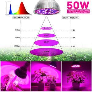 Image 5 - LED Growหลอดไฟ50วัตต์ในร่มพืชหลอดไฟเต็มสเปกตรัมโคมไฟผักดอกไม้สำหรับHydroponicsเรือนกระจกสวน