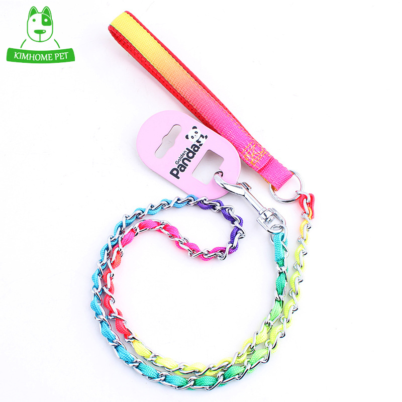 New High Quality Nylon Chain Pet Leashes Long Training Walking Dog Leashes S L