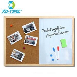 Image 1 - XINDI הודעה פקק לוח עץ מסגרת לוח ציור לוחות שילוב 30*40cm עלון סמן מגנטי לוח משלוח חינם